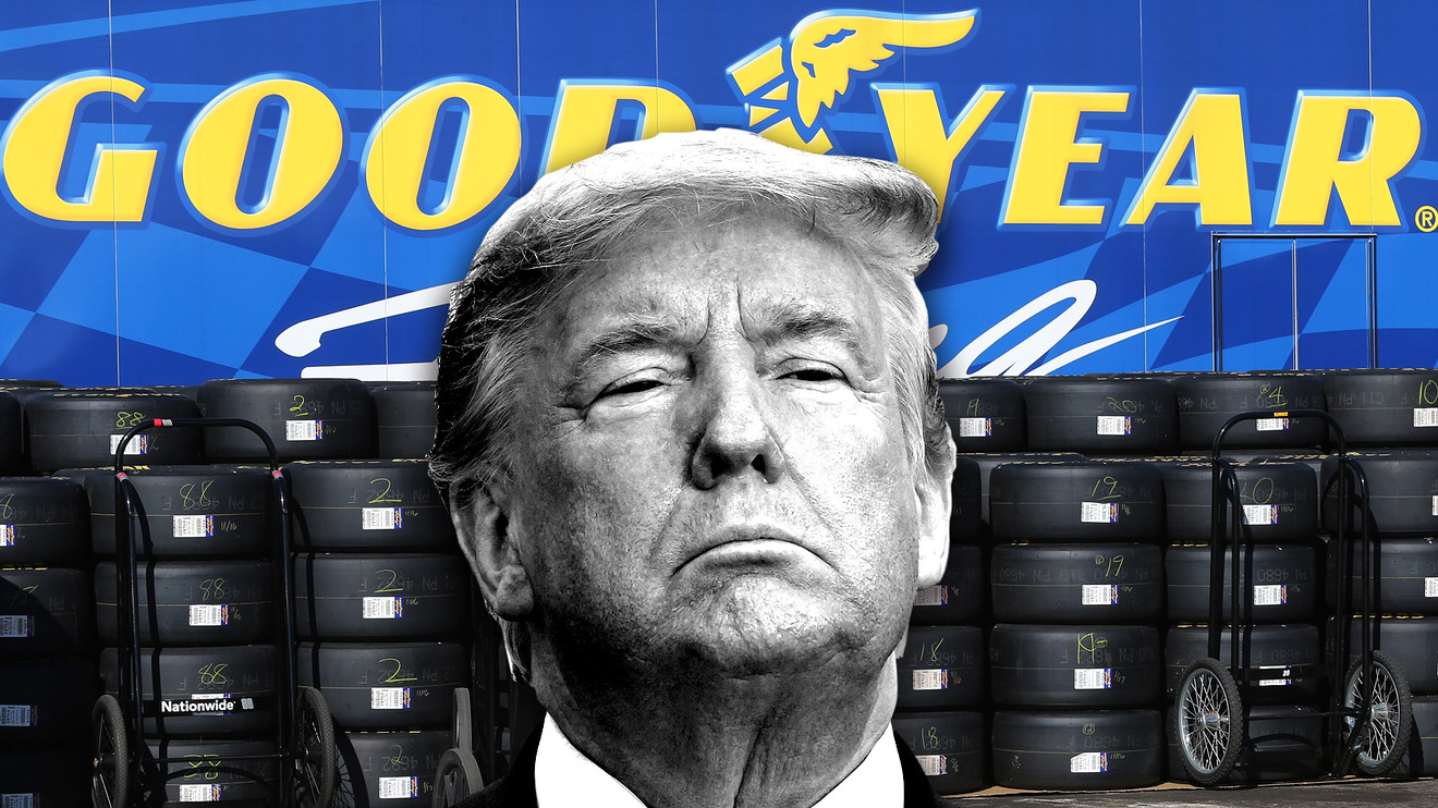 the-margin:-trump-tweets-'don't-buy-goodyear-tires'-after-company-bans-workers-from-wearing-maga-attire